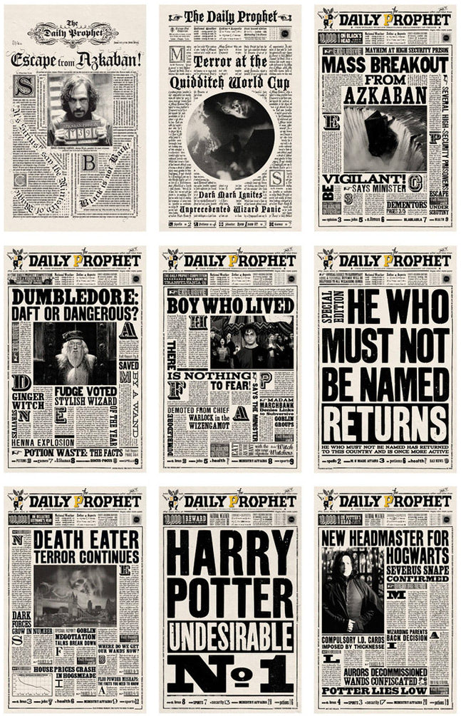 Daily Prophet newspapers