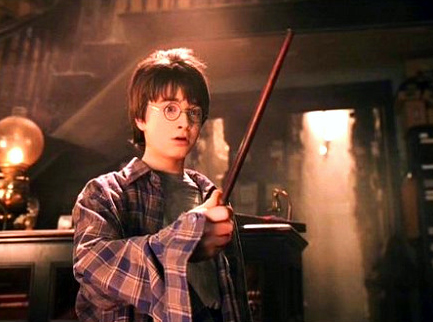 Harry Potter finds his wand at Ollivanders