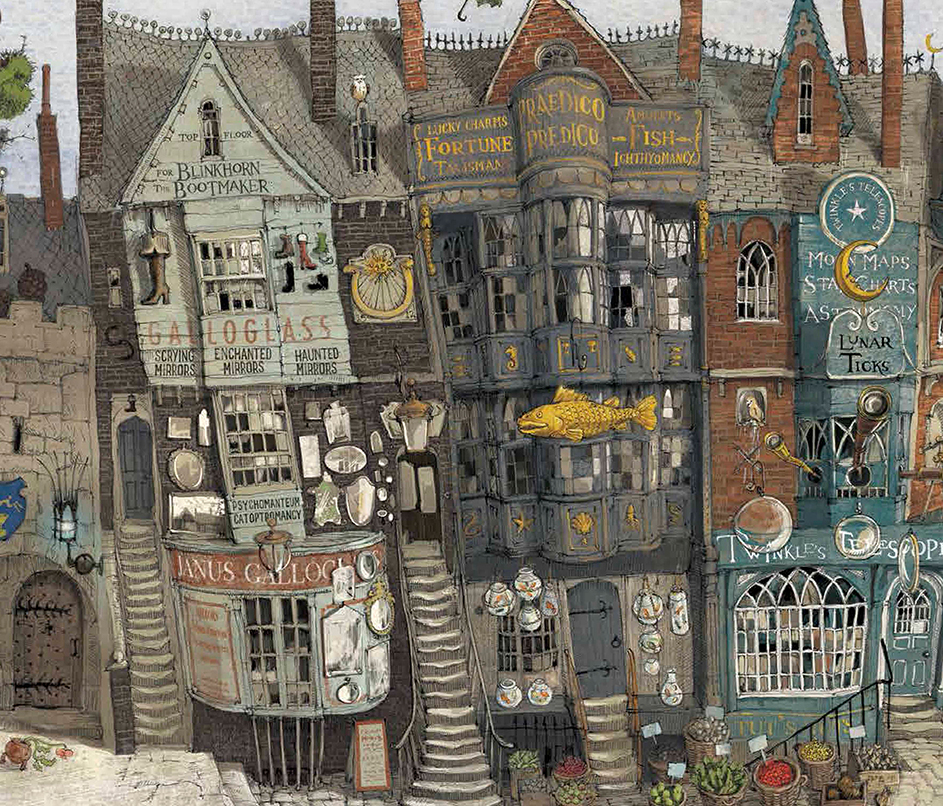 Fabuleux Diagon Alley from the new 'Philosopher's Stone' illustrated  VY03
