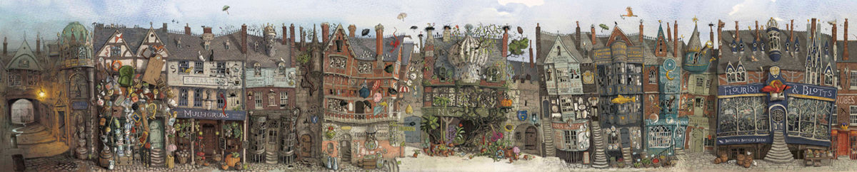 Diagon Alley from the 'Philosopher's Stone' deluxe illustrated edition