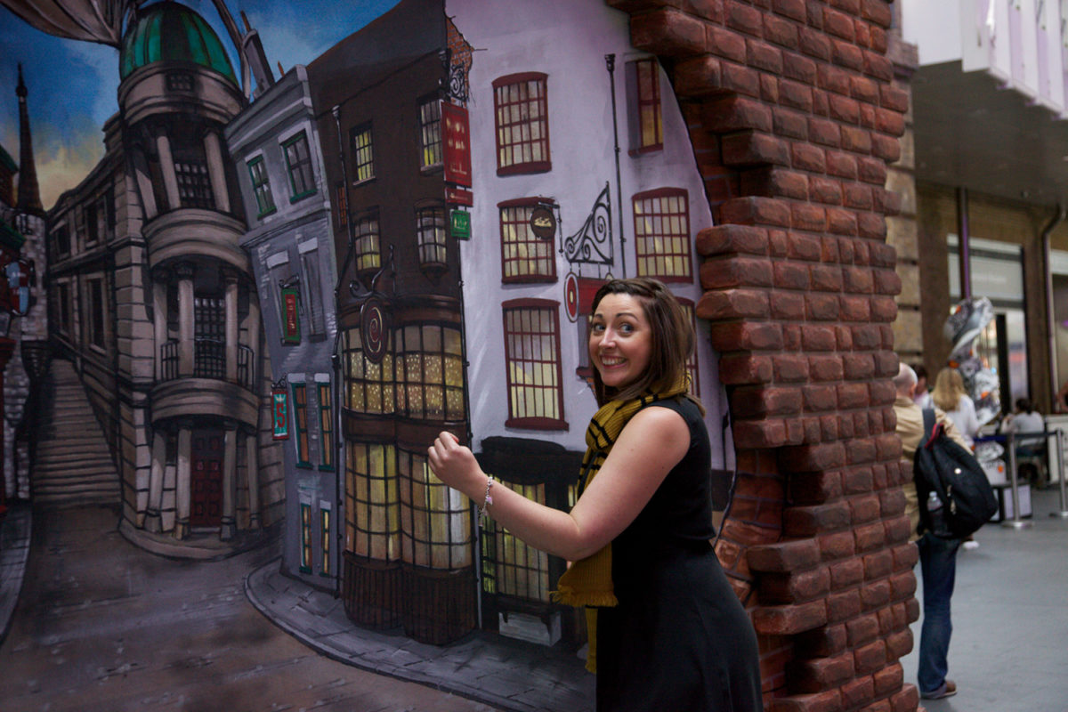 Australian Wall Stickers Diagon Alley Display At King S Cross In London Harry