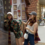 Diagon Alley display at King's Cross in London