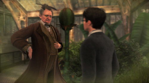 Harry and Slughorn in the Half-Blood Prince video game