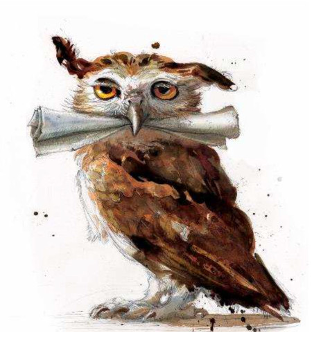 An owl from the Harry Potter and the Philosopher's Stone illustrated edition